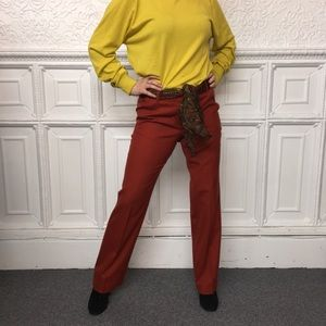 J. Crew Favorite Fit 100% Wool Rust Orange Pants